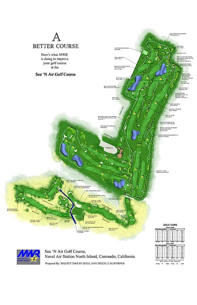 Sea N Air Golf Site Plan San Deigo California Halsey